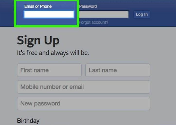 вхід у фейсбук