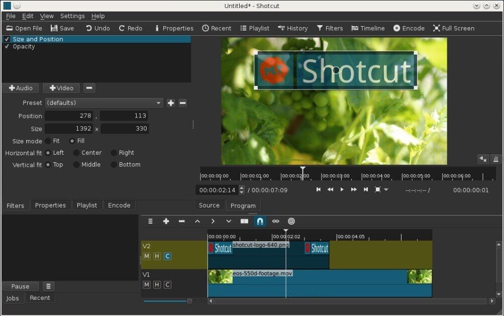 Відеоредактор Shotcut