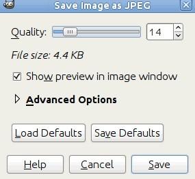 GIMP уміє стискати фотографію зменшуючи JPEG quality (якість зображення)