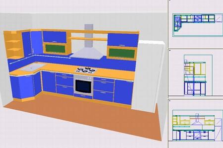 Інтерфейс програми для проектування меблів 3D Suite Меблевий салон
