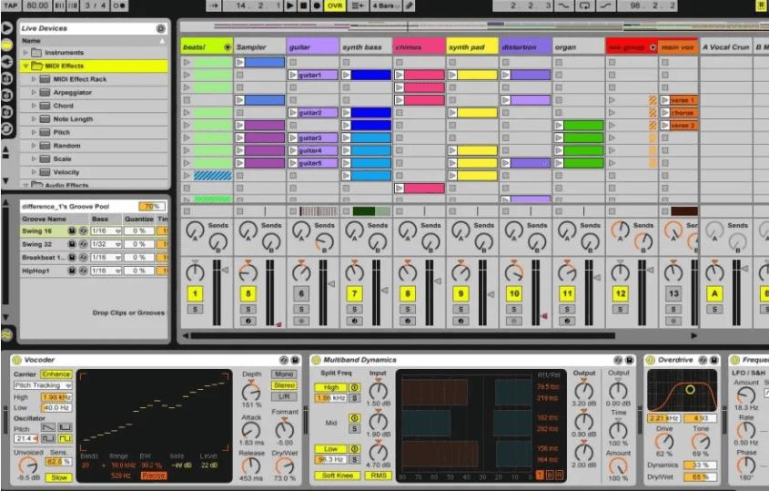 програми для створення музики Ableton