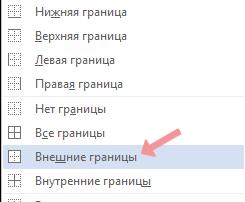 Як зробити рамку в Word - Вибір типу рамки навколо тексту