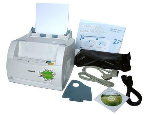 принтер, кабель, диск