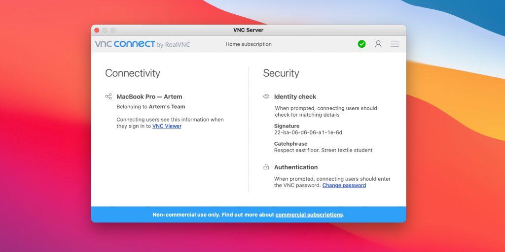 Програми для віддаленого доступу до комп'ютера: Real VNC